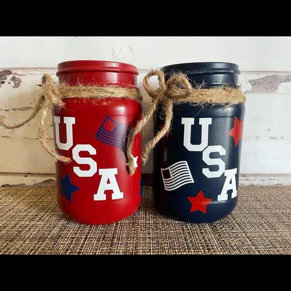 Hand-crafted 4th of July citronella candles